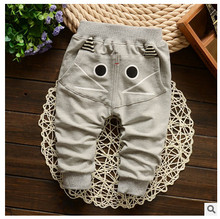 hot sale new baby clothing cute cat design pants kids girls boys Harem pants Children trousers toddler clothes