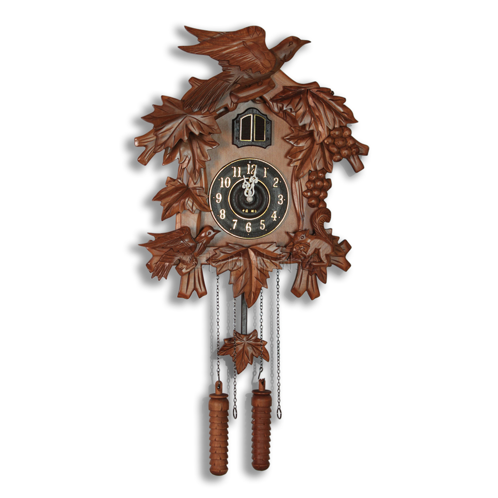 Cuckoo clock cuckoo clock hand carved wooden living room How to make a cuckoo clock