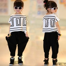 Top Quality Baby Toddler Girls Clothing Set Little Big Kids Clothes Summer T Shirt + Pants 2pcs Suit(China (Mainland))