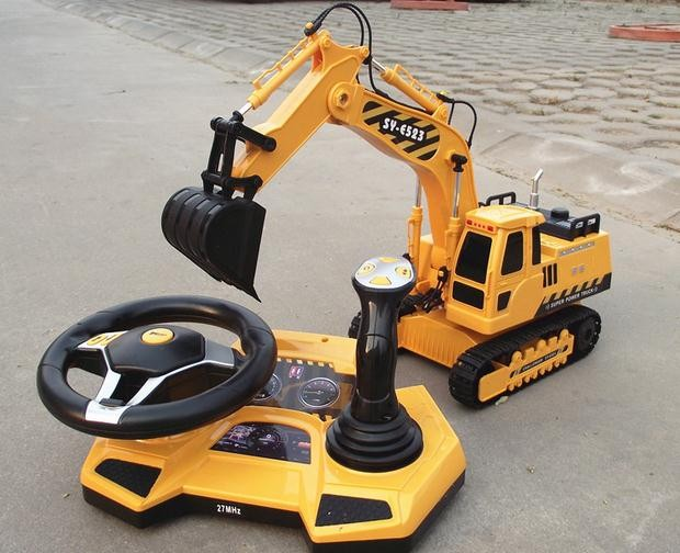 Remote Control Construction Toys : Scale rc truck electric excavator wd remote