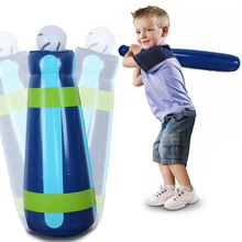 High Quality Inflatable Baseball Tumbler Set Kids Toy Outdoor Game Baseball Training Toys Inflate Games Children Birthday Gifts(China (Mainland))