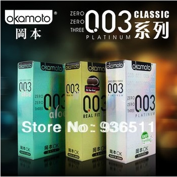 2015 lowest price Okamoto ultra thin regular size men's Condoms offers safe and best Sex Products Sex toys for men BYT001(China (Mainland))