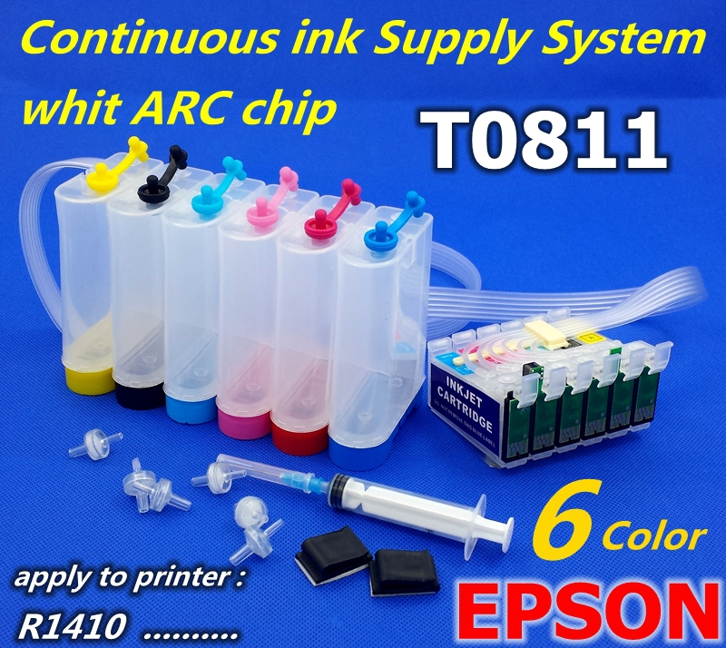 CISS T0811-T0816 Continuous Ink Supply System Apply to printer R1410 ink system PX660 PX700 PP ink tank<br><br>Aliexpress