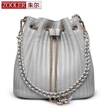 Bucket shoulder bag ZOOLER genuine leather bags women messenger bag lady 2016 Classic bolsa Colors #2113