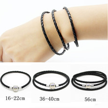 Hot 2017 Fashion 8 Colors Handmade Braided Leather Bracelet for Women Men Wrap Bracelets DIY Fit Pandora bracelet Christmas Gift(China (Mainland))