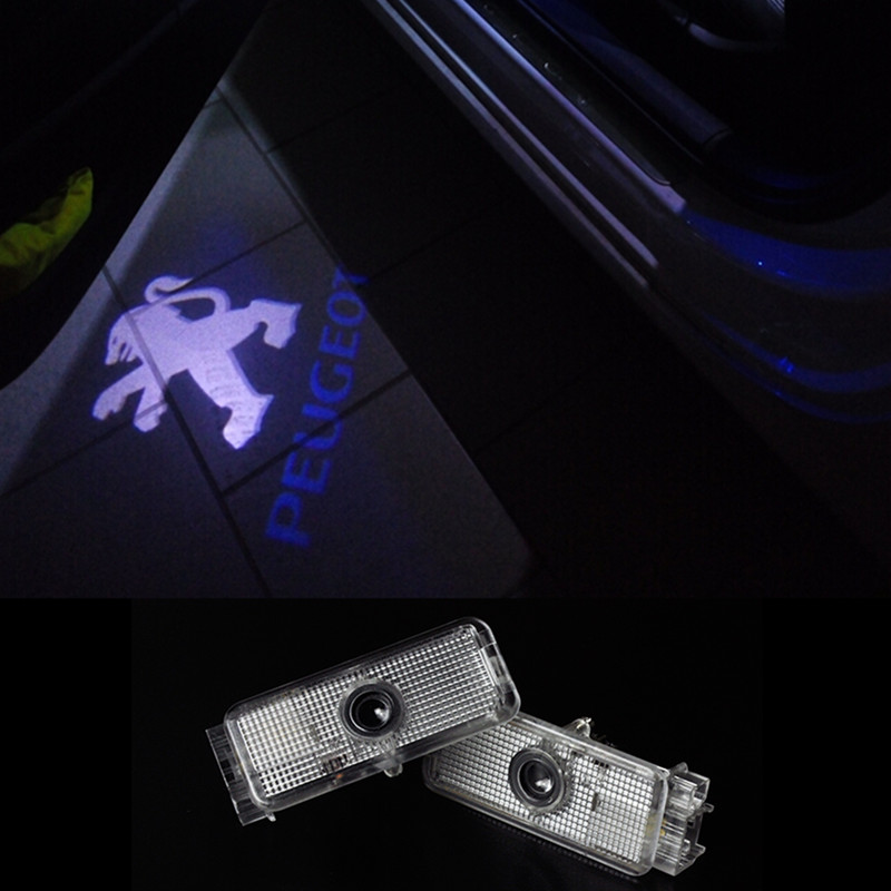 2X Car LED Door Warning Light welcome Logo Projector For PEUGEOT 508 408 RCZ 206 307 207 2008 406 ect(China (Mainland))