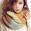 Winter Fashion Girls Tartan Scarf Women Poncho Bandana Plaid Scarf Designer Acrylic Basic Shawls Women Brand