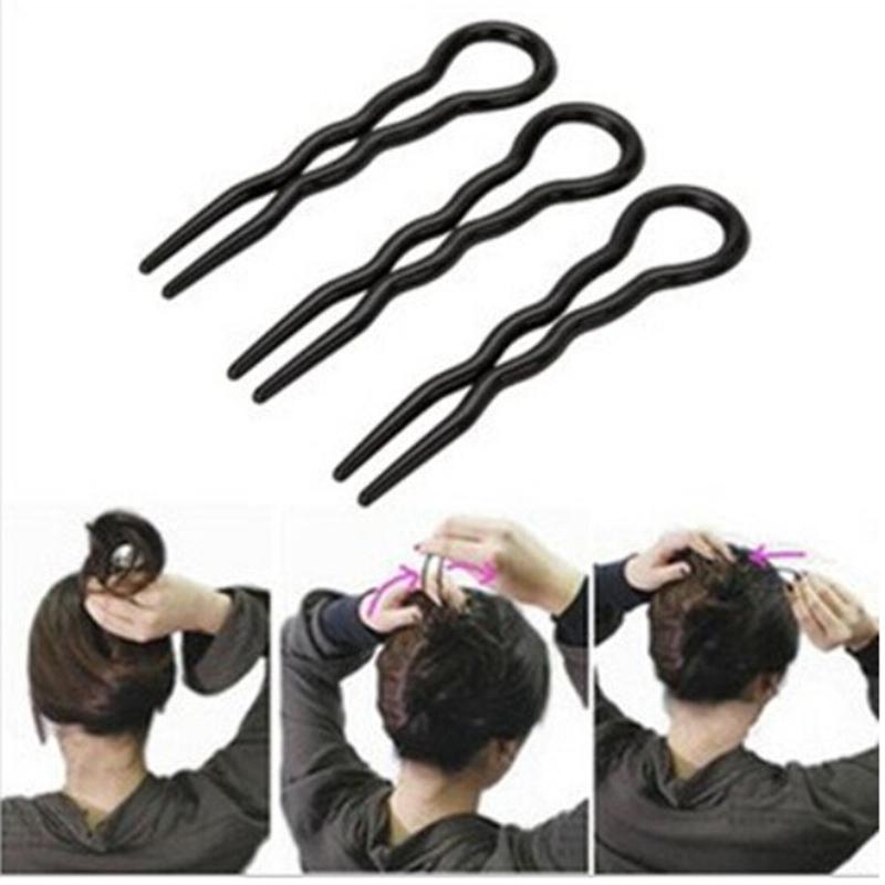 3pcs/lot Hot sale Professional makeup hair maker accessory round toe black hair clip bobby pins Tool Tools(China (Mainland))