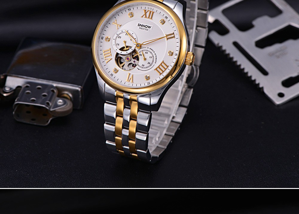 2016 CASIMA марка Роскошные выдалбливают автоматические механические часы мужчины бизнес платье наручные Часы водонепроницаемые серебристые #8807