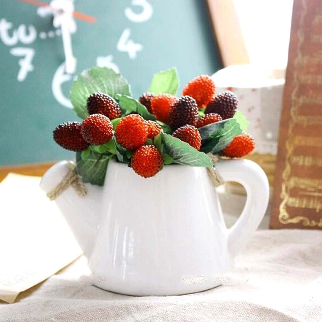 Artificial strawberry plants promotion shop for for Artificial fruits for decoration