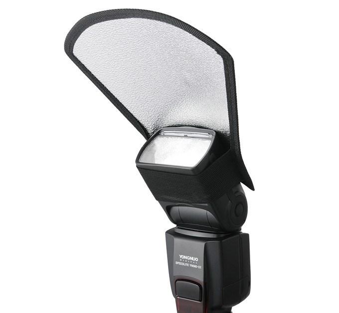 Speedlite Flash Diffuser Softbox Silver / White Reflector Photography Studio Top Light Reflective Shovel  -  Meidike Photographic Equipment Co., LTD store