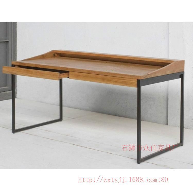 European Exports Of Solid Wood Wrought Iron Wood Computer Desk Laptop Table Desk Coffee Table