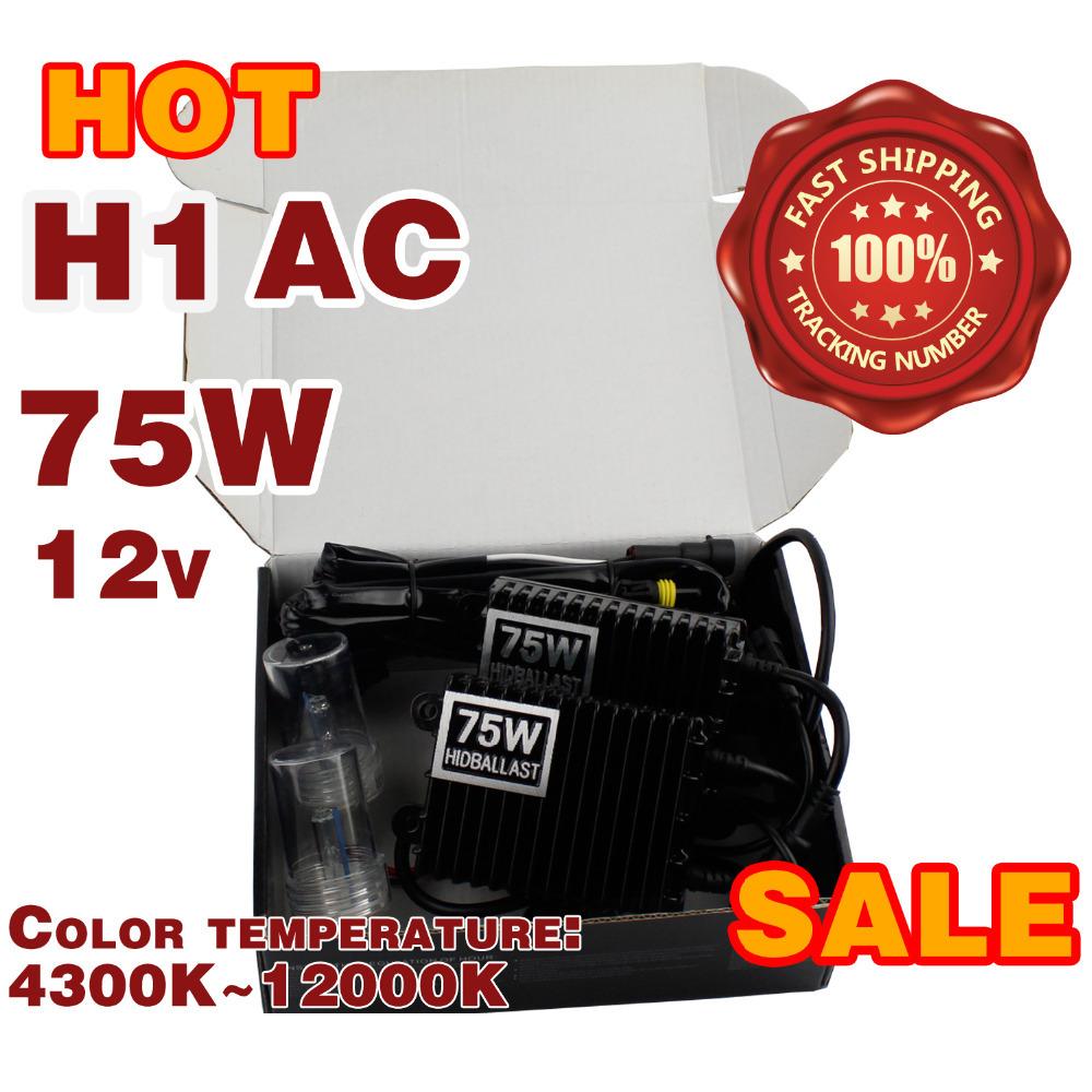 75W Xenon HID Kit Car Headlight H1 H3 H7 H8 H9 H10 H11 9005 HB3 9006 HB4 Xenon Bulb 4300K-12000K AC 12V 75W HID Slim Ballast<br><br>Aliexpress