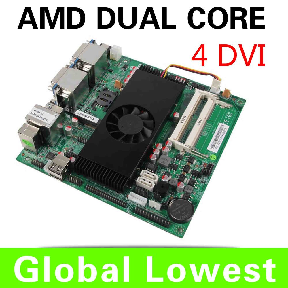 htpc motherboard XCY 4 DVI port ATX motherboard AMD Dual-core 2.7 GHZ small motherboard(China (Mainland))