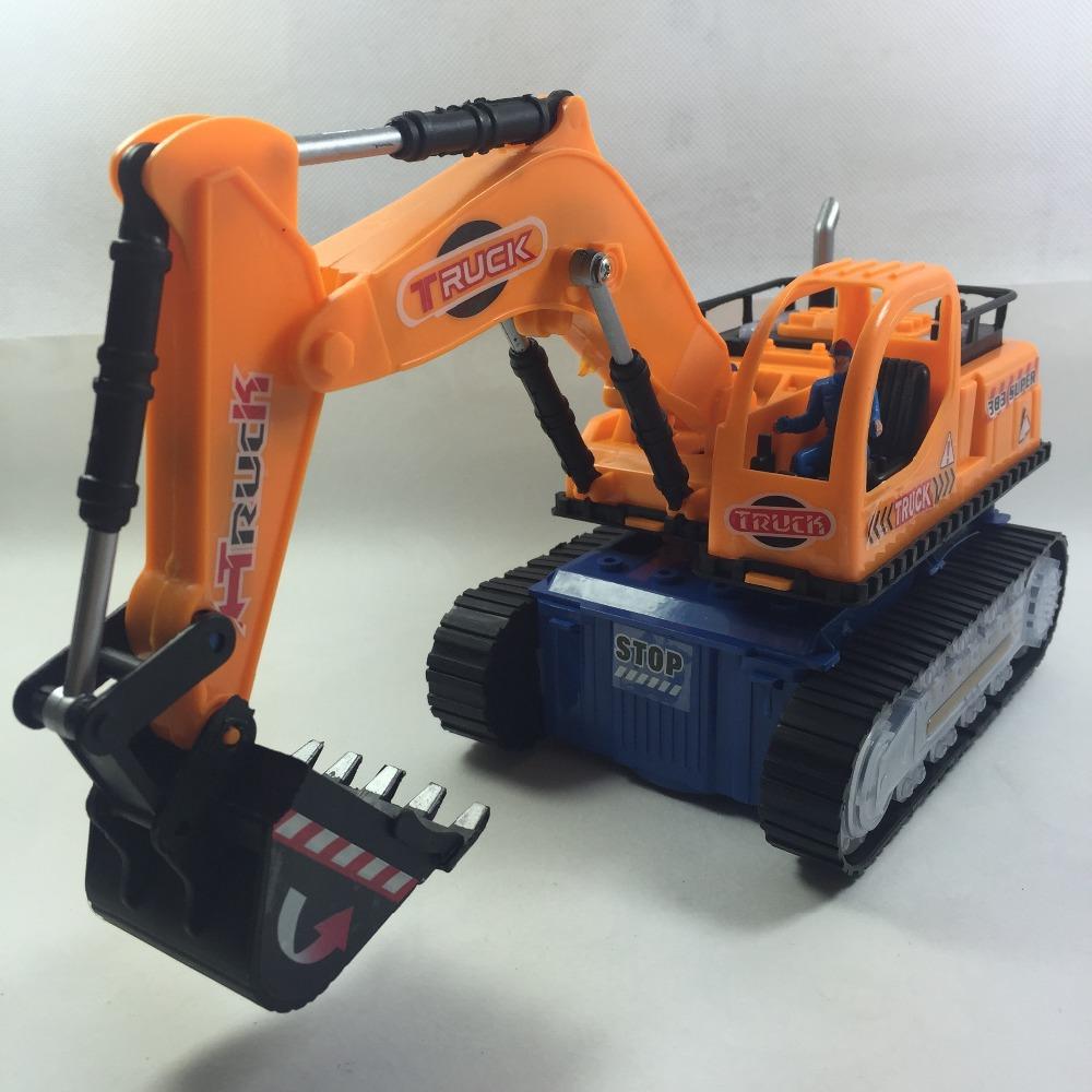 Child Boy Toy Excavator Electric Music Light Bulldozers Engineering Digging Truck Flash Toys Luminous Model Toy Retail W101(China (Mainland))