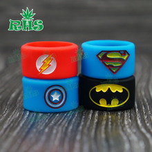 Buy 100pcs laser engraving Superman Series silicone rubber band vape ring decorative protection vapor band RBA/RDA Fading for $36.39 in AliExpress store