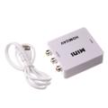HDMI to 3RCA Mini Converter CVBS Composite HD Video AV Converter Adapter Connector HDMI2AV for TV