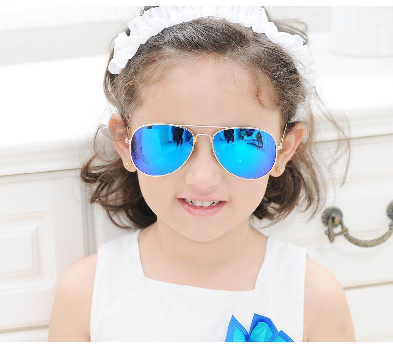 P501 Fashion High Quality metal Pilot aviation children Polarized kids Sunglasses Suit for Boys and Girls brand designer UV400(China (Mainland))