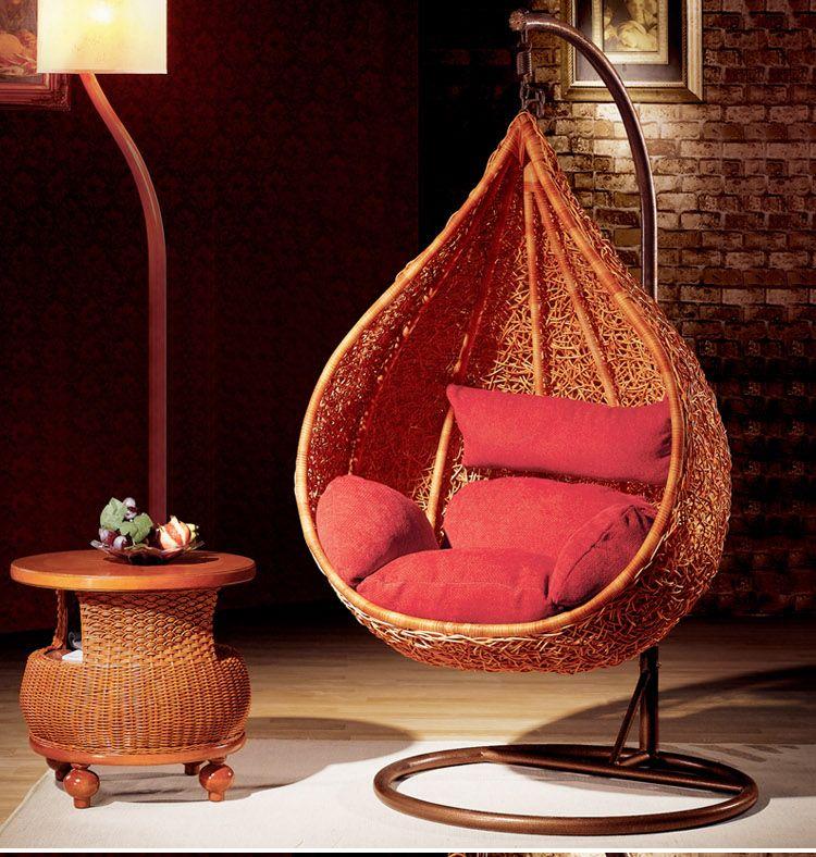 basket chair parlor lazy rockers balcony bedroom rotating hammock