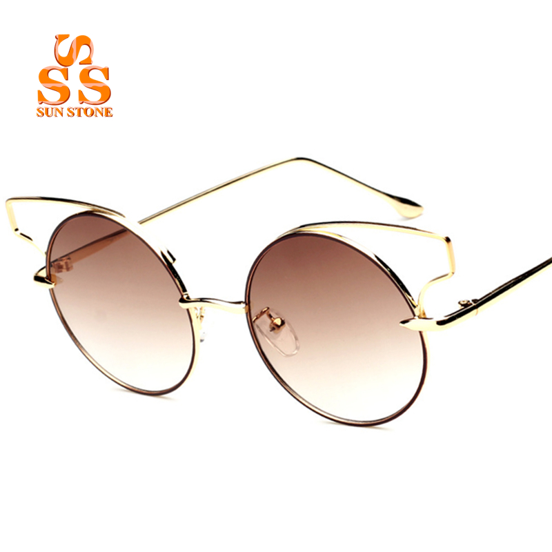 Super Deals Fashion Brand Celebrity Style Women Cat Eyes Sunglasses Lady's Hollow Alloy Frame Sun-protective Sun Blinkers SC94(China (Mainland))
