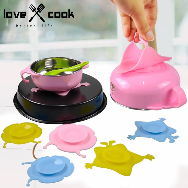 Silica Gel Bowl Mat Anti-Slip Table Mat Bowl Suction Pad Children Practice Bowl Absord Pat Bowl Fixed Mat Small Kitchen Tools(China (Mainland))