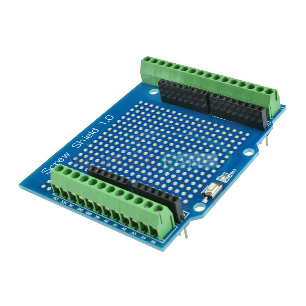 Proto screw shield for arduino open source reset button