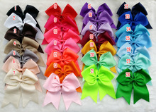 25pcs 7-8 Inch Big Grosgrain Ribbon Hairbow Hair ring, Girls' Hair Accessories ,DIY Boutique Christmas gift Hair Bow  V(China (Mainland))