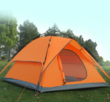 2016 Outdoor camping tent 2double layer waterproof adhesive camping tent the whole network hot-selling tent(China (Mainland))