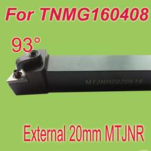 Free Shiping MTJNR 20*20*125 SHK 3/4'' 93 Degree External TNMG16 Inserts Holder Metal Cutting Tools Lathe Tool Machine - Sides International limited store