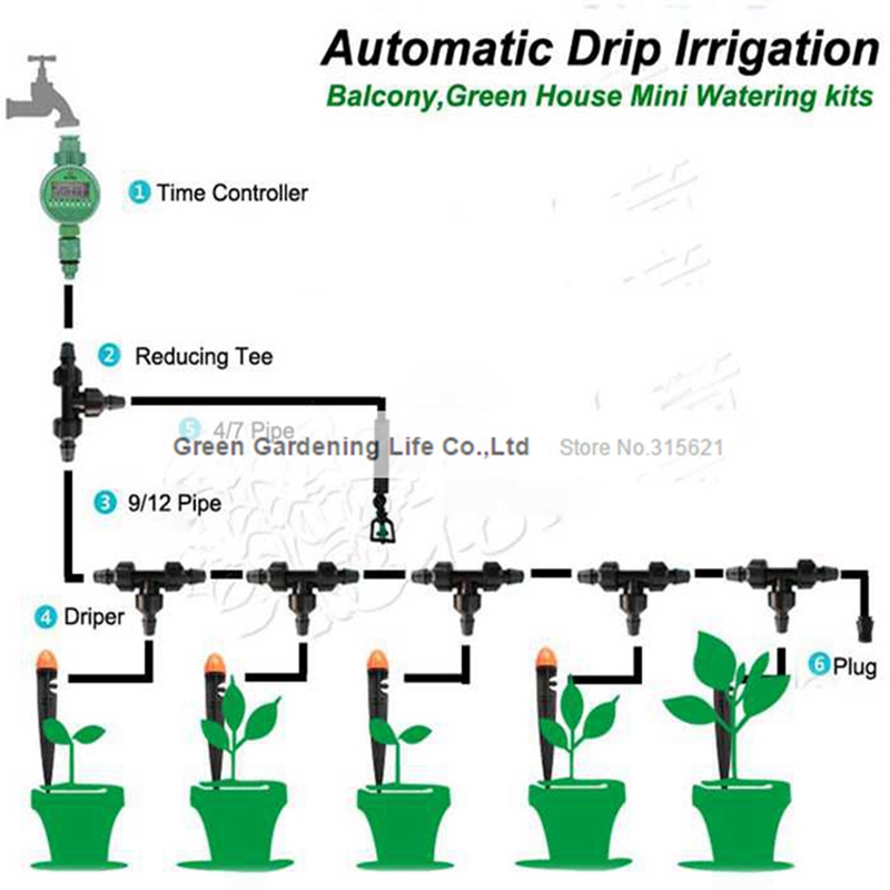 Popular greenhouse irrigation system buy cheap greenhouse for Home garden irrigation design