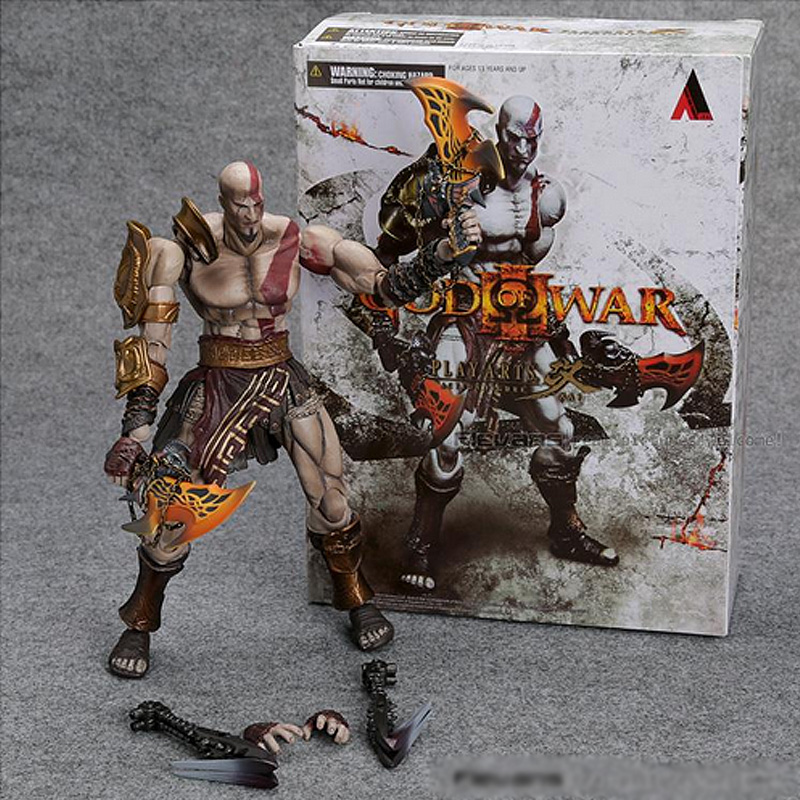 22cm SQUARE ENIX Play Arts KAI God of War Kratos PVC Action Figure Collectible Model Toy(China (Mainland))