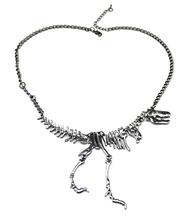 New Fashion Brand Steampunk Silver colar vintage Dinosaur Pendant Personalized Cute Choker Bib Necklace for Women and Men