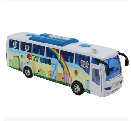 Children Toy Vehicles hot sale diecast bus models Inertial city bus door voice bus model car kids gift free shipping(China (Mainland))