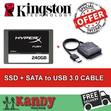 Kingston HyperX Fury SSD 256GB hdd ssd 240gb+SATA to usb 3.0 external hard flash drive laptop computer portable solid state disk(China (Mainland))