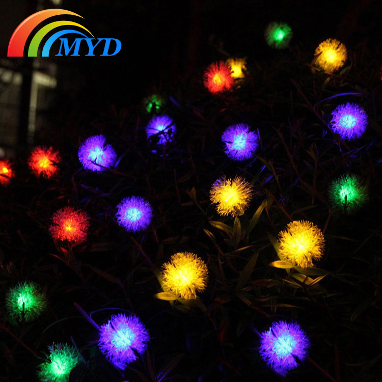 Exterior Solar String Lights : Solar String Light With Furry Ball Cheap Price Solar Lights Outdoor Decoration-in Lighting ...