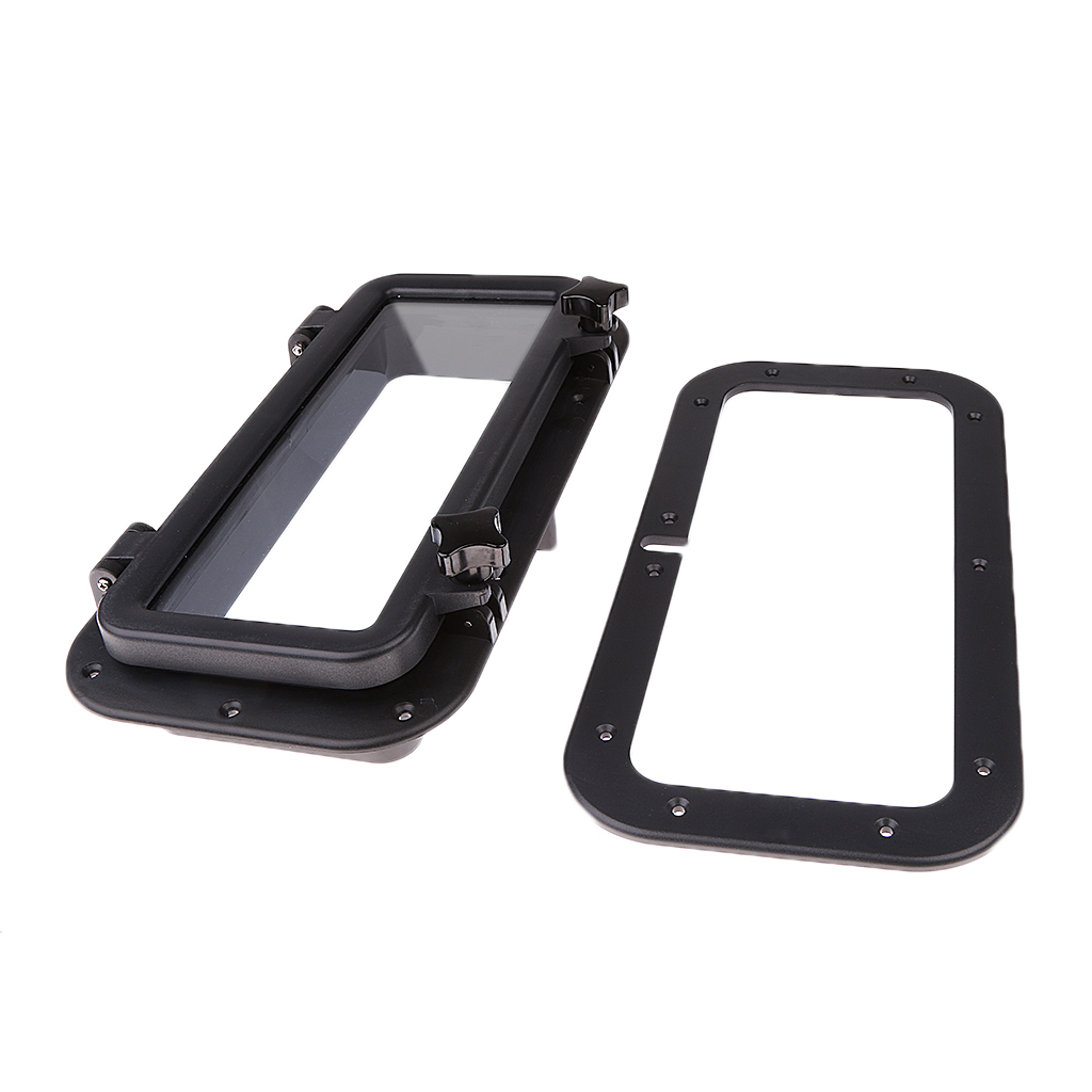 15.75*7.87″ Black RV Car Boat Yacht Window Rectangle Shape Opening Portlight Hatch ABS Anti-ageing 4mm Tempered Glass 2019 New