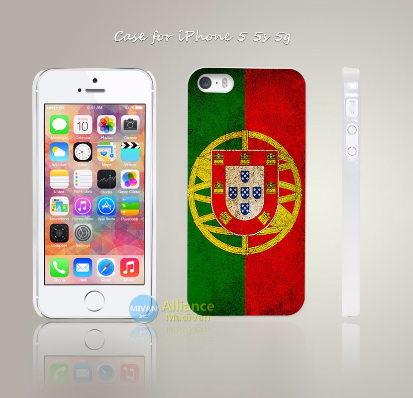 portugal flag stripes colors dirt Style Hard White Case Cover Coque for iPhone 4 4s 4g 5 5s 5g 5c 6 6s 6 6s Plus