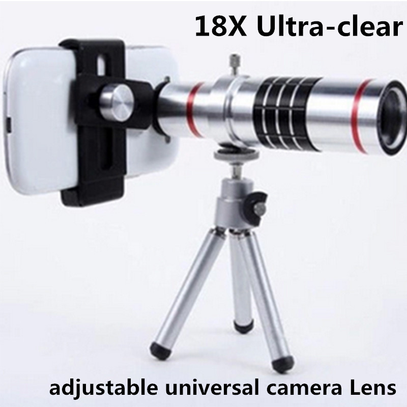 Mobile Phone Lens Universal 18x Universal Optical Telescope Camera Telephoto Lens For Mobile Samsung HTC 18X Lens with tripod(China (Mainland))
