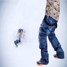 Брюки 2015 полная защита джинсовые мужчин водонепроницаемый бурелом носить лыжные джинсы сноуборд зимнее предложение