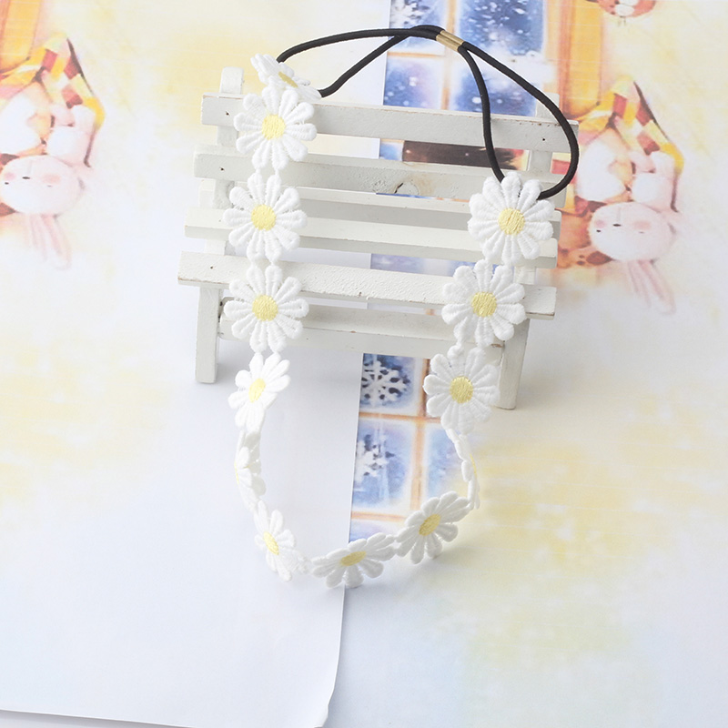 New Children Hair Accessories white Flowers Headbands Party Hair Band Wedding Bride Stumulate Children Lovely Headband(China (Mainland))