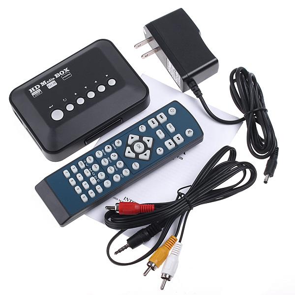 IMONIC Mini TV Media Player 1080P HD USB HDMI VGA AV SD MMC RMVB MP3 AVI Divx MKV(China (Mainland))