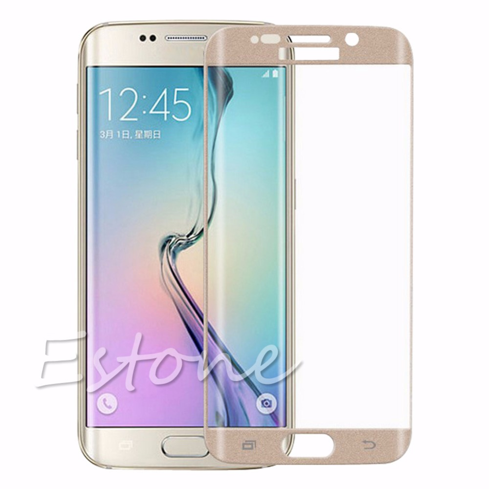 1pc Full Cover Curved Tempered glass Screen Protector For Samsung Galaxy S6 Edge<br><br>Aliexpress