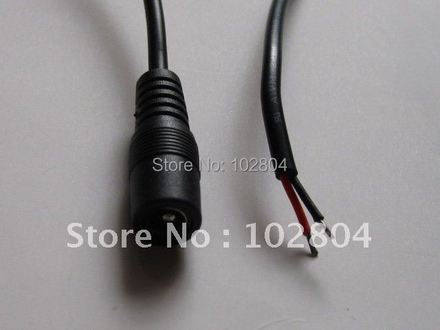 40 Pcs Per Lot  DC Power Jack Female Connector 5.5x2.1mm With Cord Cable 100cm HOT Sale High Quality