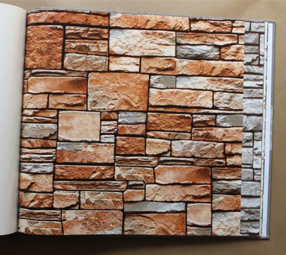 messy 3d rock wallpaper culture stone wall paper sofa background wall paper(China (Mainland))