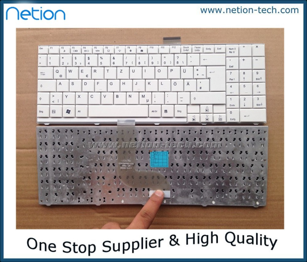 Original New FOR Tastatur Medion Akoya S5612 MD997930 MD97424  GR keyboard white(China (Mainland))