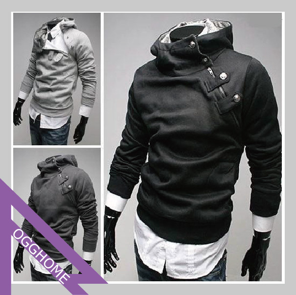Free Shipping High collar coat 2012 arrival top brand men's jackets,men's dust coat,men'soutwear RG1208032