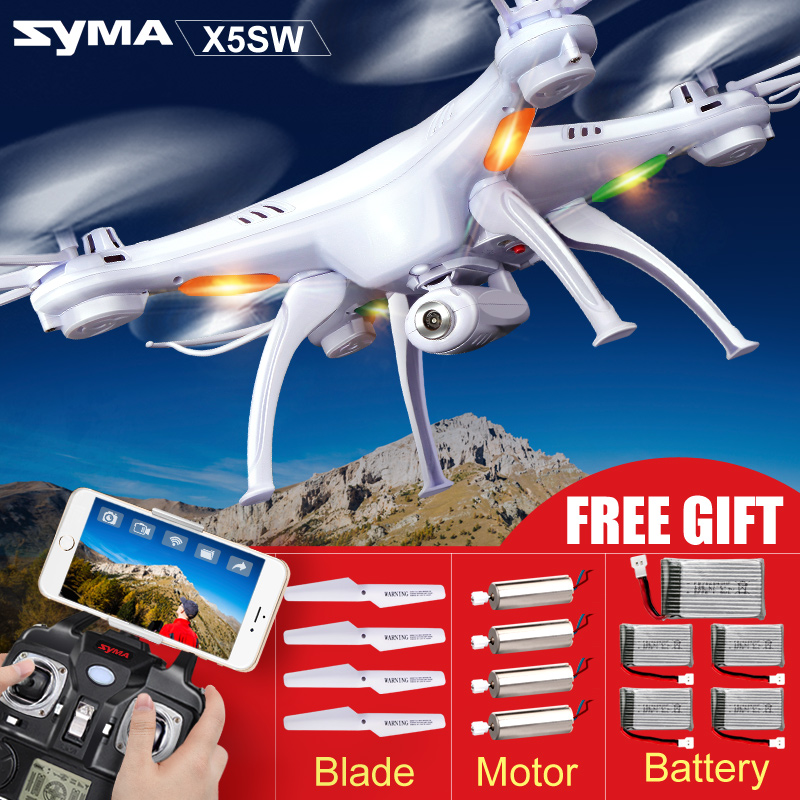 Original SYMA X5S X5SC X5SW WIFI Drone Quadcopter With FPV Camera Headless 6-Axis Dron RC Helicopter Quadrocopter Kids Toy(China (Mainland))