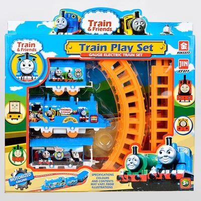 Free shipping 1 Set Thomas train electric eight rail cars 8 tracks Friends Mini Electric Train Set Track Toy for Kids(China (Mainland))