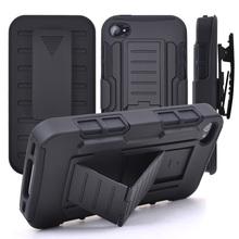 3in1 C Omboกรณีโทรศัพท์สำหรับip hone 6 4S กรณีBelt Clip HolsterยืนกรณีเกราะสำหรับiPhone 6S 5S SE 5C 6บวกกันกระแทกฮาร์ดกรณี