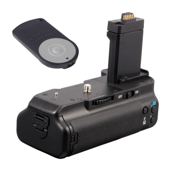 Vertical Battery Grip For Canon EOS 500D/450D/1000D/Rebel Xsi/XS/T1i as BG-E5 +RC-6 Remote(China (Mainland))